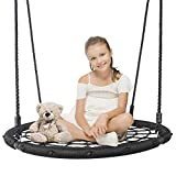 SUPER DEAL Largest 48' Web Tree Swing Set - Extra Large Platform - 360 Rotate°- Adjustable Hanging Ropes -...