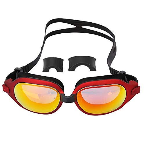 Wbestexercises Swim Goggles, Swimming Goggles Best No Leaking Anti Fog UV Protection Triathlon Swim Goggles for Adult Men Women Youth Kids Child,Triathlon Equipment, Multiple Choice(Red)