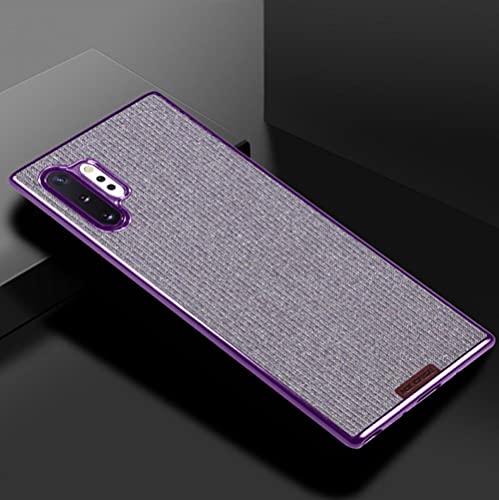 Adecuado para la nota 10 teléfono móvil shell note10+5G cubierta protectora galvanoplastia todo incluido flash polvo anti-caída personalización-púrpura_note10+5G