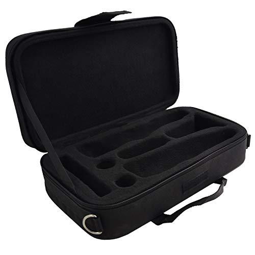 Klarinettenkoffer für B-Klarinette (Böhm System) - 7 Einlassungen und Außentasche - Gigbag Koffer für Klarinette