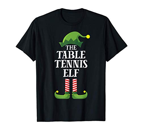 Table Tennis Elf Matching Family Group Christmas Party Camiseta