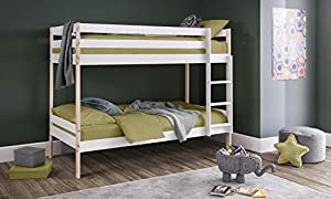 Julian Bowen Nova Bunk Bed, White/Pine, Single