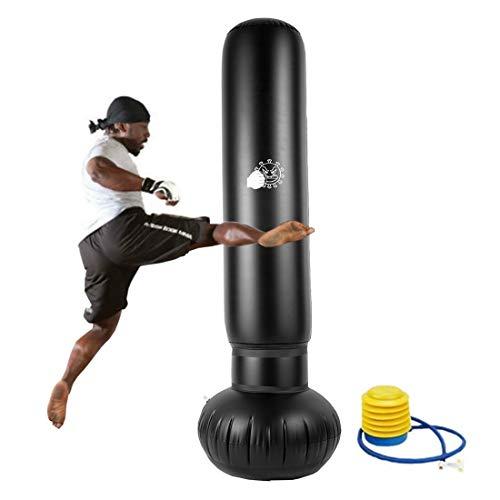 Saco de boxeo de 155 cm independiente, saco de boxeo de pedestal, saco de boxeo de boxeo, saco de boxeo inflable, alivio de la presión, adulto y niño