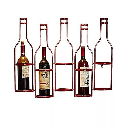 estantería de Vino Titular Mátil Estante de Vino Pared Vino Tinto Estante de Pared Colgando Sala de Estar Sala Comedor Bar Gabinete Botella de Vino estantes para Vino (Color : Copper)