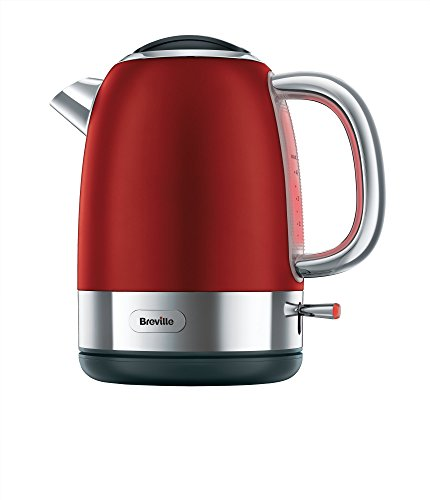 Breville VKJ885X Hervidor, 2200 W, 1 Liter, Acero Inoxidable, Rojo