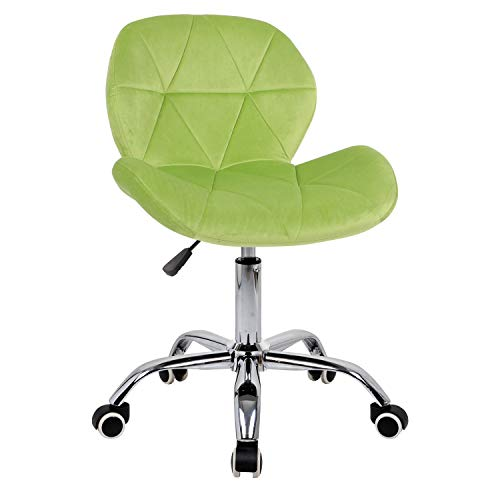 Desk chair,Office Swivel Chair Adjustable Height Computer Chair Comfy Padded Study Chair,Home/Office Furniture,Velvet (Green)