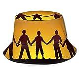AOOEDM Hermandad Hombres Mujeres Sombrero para el Sol Sombrero de Pescador Protección UV Senderismo al Aire Libre Pesca Lavada Gorra de Moda