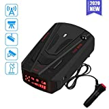 Radar Detector for Cars,Laser Rader Detectors, Voice Prompt Speed, Vehicle Speed Alarm System, Led Display, City/Highway Mode, Car 360 Degree Automatic Detection (Black)