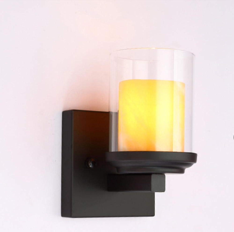 Kreative Schlafzimmerbettgang-Cafélampe der Retro- rustikalen Marmorwandlampe