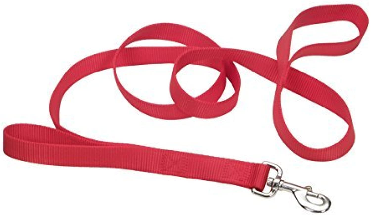 Coastal Pet Products DCP904HRED Nylon Loops 2 Double Handle Dog Leash, 1Inch by 4Feet, Red by Coastal Pet