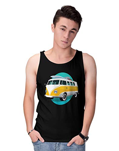 This is the perfect garment to keep you smiling on a rainy day. Ideal for the sunny days on the beach. Featuring an illustration of a yellow van. By the way, it can be a nice present for a Birthday and even Christmas. 100% Pre-shrunk cotton to mainta...