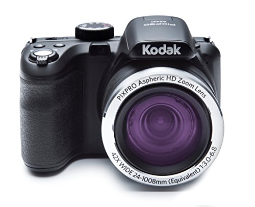 Kodak PIXPRO Astro Zoom AZ421-BK 16MP Digital Camera with 42X Optical Zoom and 3 LCD Screen (Black)