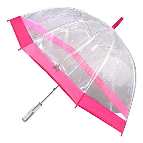 Les Trésors De Lily [L8808] - Umbrella glocke 'Singing In The Rain' transparent pink.