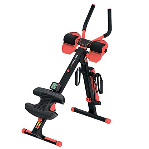 3-in-1 Foldable Rowing and Ab Machine with LCD Monitor for...