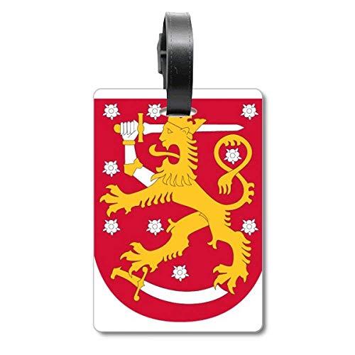 Etiqueta de identificación para Maleta con el Emblema Nacional de Finlandia, Europa