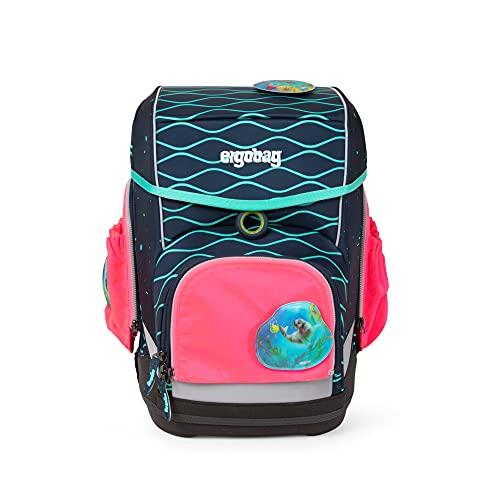 ergobag Pack Cube Light Side Pocket Zip-Set (3-teilig), Sicherheitssystem, Jugendliche, Unisex, Pink (Rosa), 0,7 l