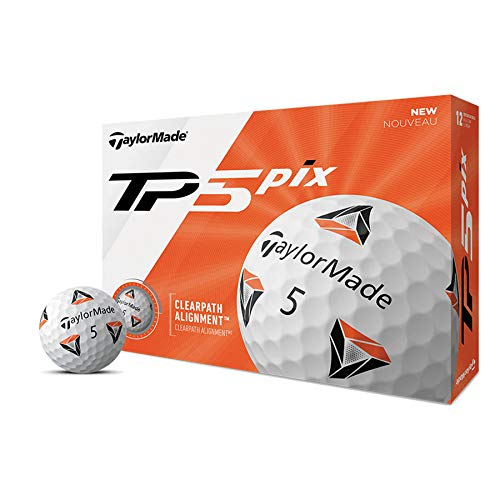 TaylorMade TP5 Pix 2.0 Golfball, Dutzend