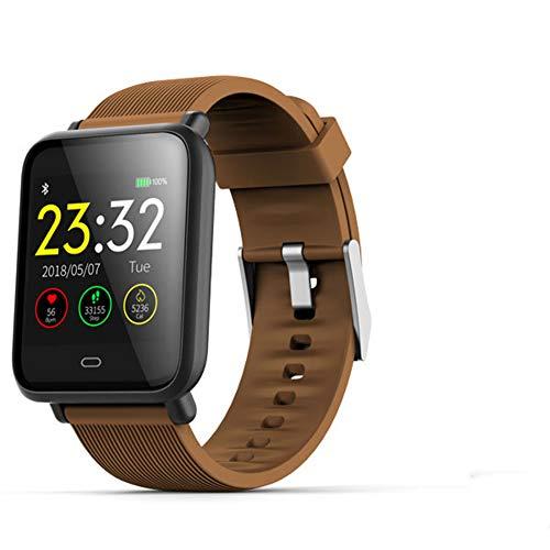 YMAMM Smart Sport Fitness Armband Tracker Herzfrequenz Blutdruck Überwachung Armband Nachricht Erinnerung Sport Armband (Brown)