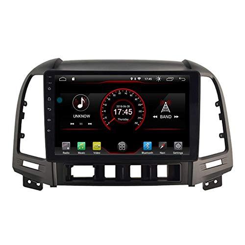 Autoradio Android 10 per Hyundai Santa Fe 2006 2007 2008 2009 2010 2011 2012 Stereo per Auto Navigazione GPS Touch Display Car Media Player WiFi Bluetooth Controllo del Volante