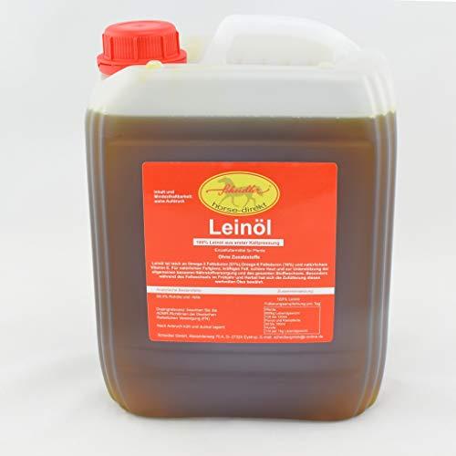 Horse-Direkt Premium Leinöl 10 Liter Kanister Für Pferde, Hunde & Katzen- Leinsamenöl Kaltgepresst Zum Barfen Für Das Tier - Natürlicher Futterzusatz Zur Unterstützung