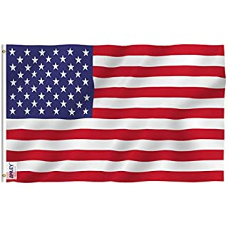 Anley Fly Breeze 3x5 Foot American US Flag - Vivid Color and UV Fade Resistant - Canvas Header and Double Stitched - USA Flags Polyester with Brass Grommets 3 X 5 Ft (B015R4DH2G) | Amazon price tracker / tracking, Amazon price history charts, Amazon price watches, Amazon price drop alerts