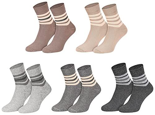 Star Socks Germany 10 Paar Kurzsockensocken kurzer Schaft bequemer B& mehrfarbig (39-42, 43-46), Mehrfarbig, 43/46