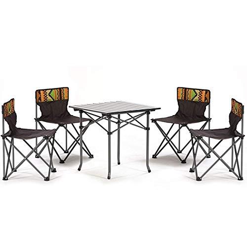 Gghy-camping tables Outdoor Klappstuhl Kleine Tragbare Camp Strandkorb Angeln Stuhl Hocker Malerei Zug Hocker Outdoor Klapptisch Und Stuhl Set, Outdoor Leichtgewicht (Farbe : Braun, Style : A Chair)