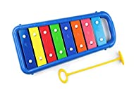 Baby Xylophone suitable for children from 12 months A real musical instrument wih accurate electronically tuned notebars for perfect tones Chunky, rounded edges and notebars that are inacessible to tiny fingers A specially shaped safe mallet that cli...