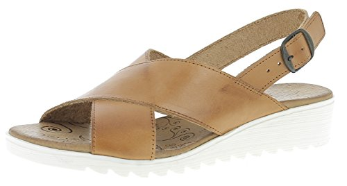Andrea Conti Damen Sandaletten Sandalette in Cognac 0141505-062 braun 678986