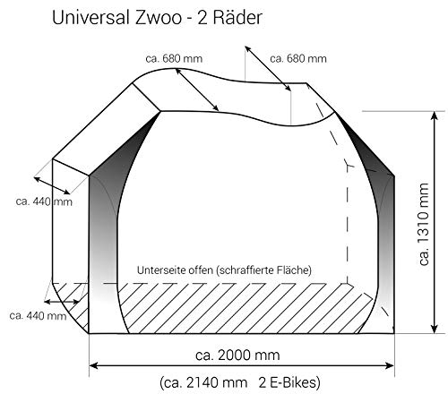 Hindermann Fahrradschutzhülle Universal Zwoo E-Bikes