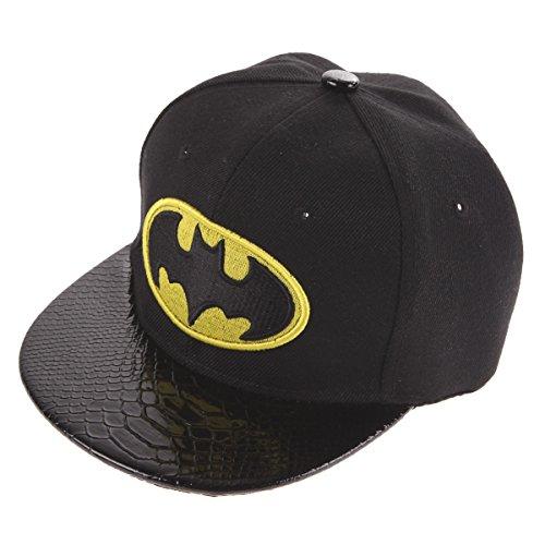 amazingdeal Kids Hip-Hop Snapback Batman Baseball Cap Children Sports Hats Black