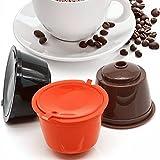 AVEE Use 3pcs / Pack 150times Reutilizable Dolce Gusto de cápsulas de café, rellenables compatibles Dolce Gusto cestas de Filtro de café de plástico
