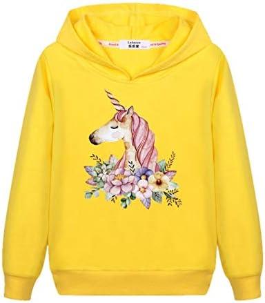 سترات بقلنسوة وبلوزات - سويت شيرت بقلنسوة مطبوع عليه حصان حيوانات للأطفال والأولاد لفصل الخريف وقمم بقلنسوة ملابس الطلاب مطبوع عليها عبارة Love Horse Tracksuit (أصفر 8T)