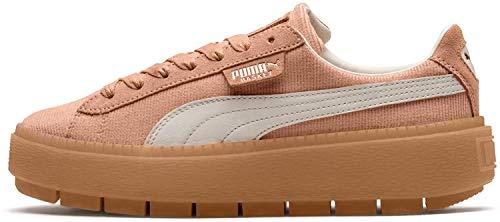 Puma Platform Trace Corduroy Damen Sneaker Dusty Coral-Whisper White 6