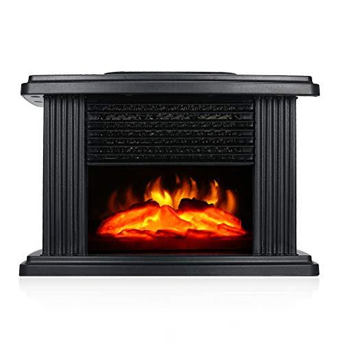 Yunobi Mini camino elettrico – Riscaldatore portatile da tavolo con 3D effetto fiamme, stufa riscaldante per interni camino, stufa spaziale per la casa