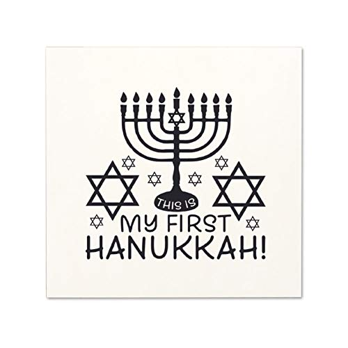 NOT BRANDED This is My First Hanukkah! 2 Black-01 Wood Frames 12 x 12 iche Inspirational Wooden Signs Rustic with Quotes Saying Modern Farmhouse Hanging Art Gift for Home,Kitchen,Bathroom Decor