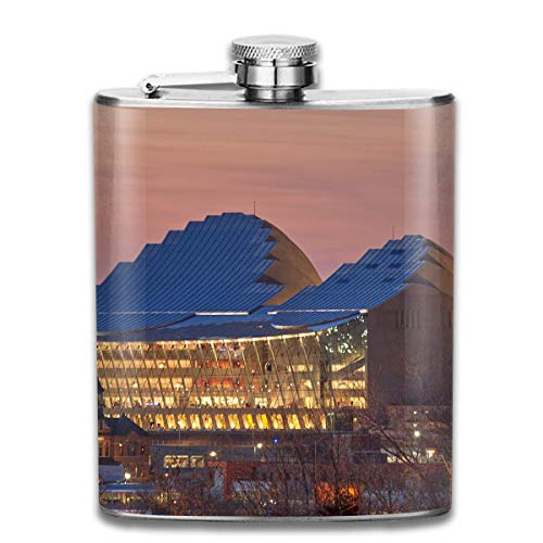 Kansas City Conference Hall Fashion Portable Stainless Steel Hip Flask Whiskey Bottle for Men and Women 7 Oz