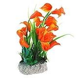 WFAANW Usina Água plástico Flor de Trompeta Diseño Peces de Acuario Tanque Paisagismo acuática 21 Centímetros Alta