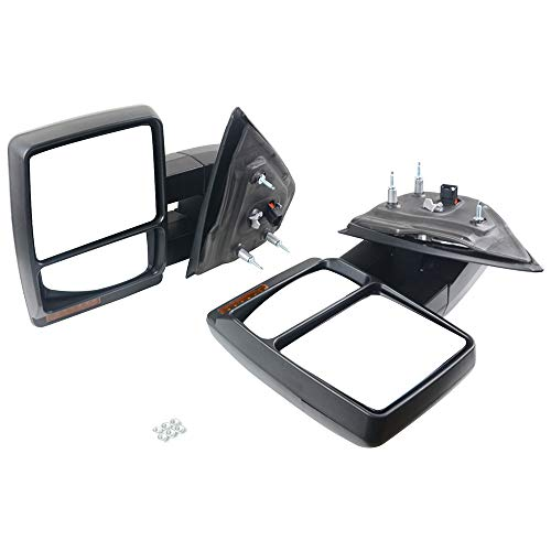Best Bargain NEWZQ Set of 2 Power Heated Towing Mirrors w/Signal Light Part# 7L3Z17682AE 7L3Z17683AEFor Ford F150 2007-2014