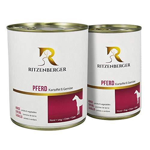 Ritzenberger Hundefutter Pferd mit Kartoffel & Gemüse   12 x 400g Dosen (4,8kg)   vom Metzgermeister