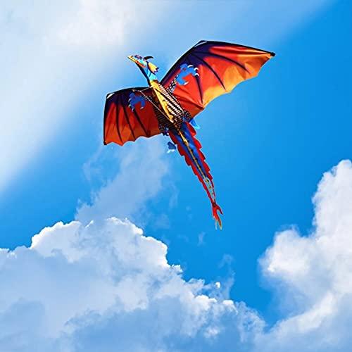 aquilone New 3D Dragon Kite Linea singola con coda con manico e linea Buoni aquiloni volanti giocattoli da esterno da Hengda giocattoli per bambini adulti giocattoli per bambini ( Color : Green )