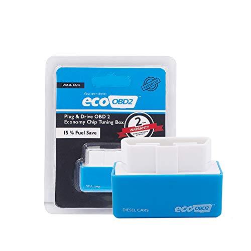 Doolland 1 pièce Eco OBD2 Chip Tuning Box Plug Drive pour Benzine/Diesel Voiture blue Diesel car