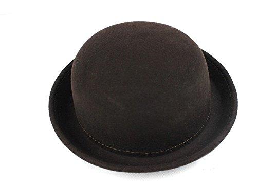 Demarkt Demarkt Melone 100% Wolle Jazz Tanzen Wolle Bogen Damen Modischer Wintermütze Hut Kappe Mütze Hat (Coffee)