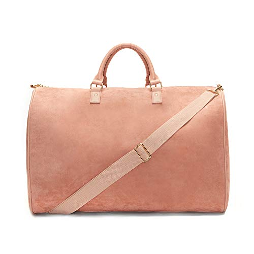 Womens Light Pink Duffle Bag, Weekender Bag, Overnight Bag, Travel Bag, Luggage, Large Tote Bag, Fashion Bag, Durable Bag, Best Handbag for women (Light Pink)