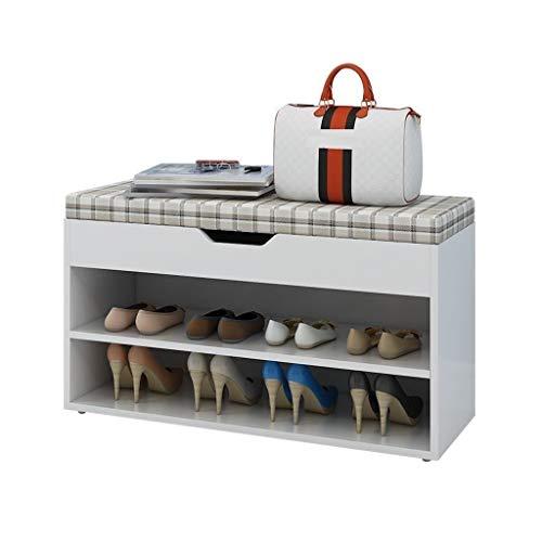 Yyqx Zapatera Estante del Zapato, Estante Minimalista del Zapato de los Muebles caseros del Organizador del Zapato del Vintage del Armario del Almacenamiento Zapatero (tamaño : 60cm)