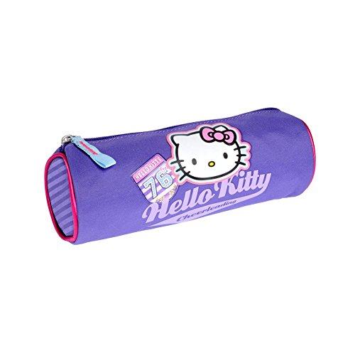 Hello Kitty-Astuccio-Borsa, collezione collegio, colore: viola