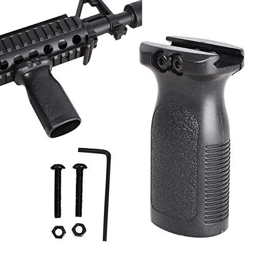 RimFly Empuñadura para Armas Profesional de Airsoft o Caza Grip Vertical Universal con Rail Picatinny 20mm Ajustable RVG Accesorio de Agarre Delantero Ergonómica Vertical Fma M4 M16