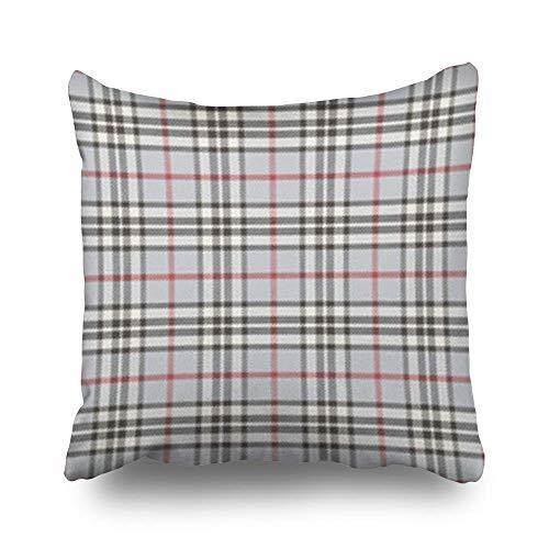 zhengchunleiX Funda de Almohada Throw Pillow Covers Plaid Kilt Home Decor Sofa Bedroom Cushion Cases Square Size 18 x 18 Inches Pillowcase