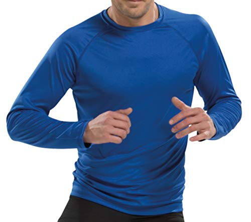 Asioka 300/14 Camiseta Deportiva de Manga Larga, Unisex Adulto, Royal, XL