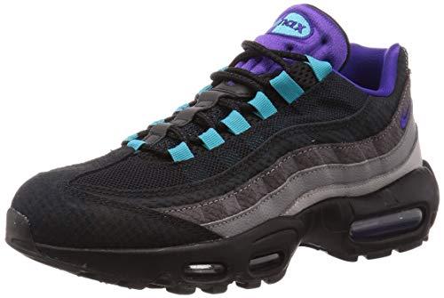 Nike Herren AIR MAX 95 LV8 Traillaufschuhe, Mehrfarbig (BlackCourt Purple Teal Nebula 002), 42 EU